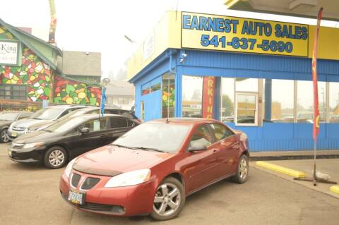 2008 Pontiac G6 for sale at Earnest Auto Sales in Roseburg OR