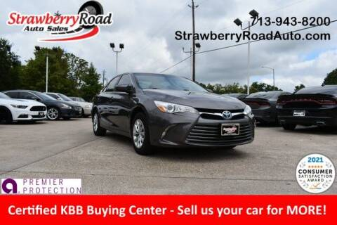 2017 Toyota Camry Hybrid for sale at Strawberry Road Auto Sales in Pasadena TX