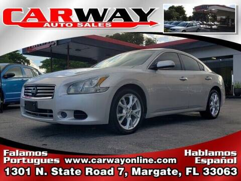 2012 Nissan Maxima for sale at CARWAY Auto Sales in Margate FL