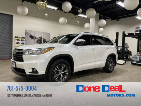 2016 Toyota Highlander for sale at DONE DEAL MOTORS in Canton MA