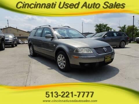 2002 Volkswagen Passat for sale at Cincinnati Used Auto Sales in Cincinnati OH