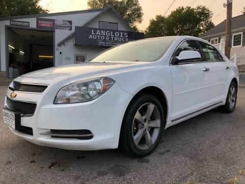 2012 Chevrolet Malibu for sale at Langlois Auto and Truck LLC in Kingston NH