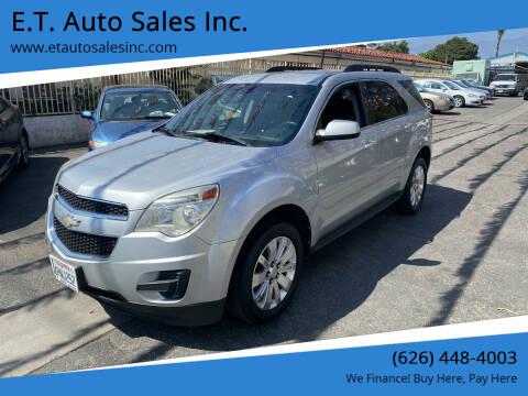 2011 Chevrolet Equinox for sale at E.T. Auto Sales Inc. in El Monte CA