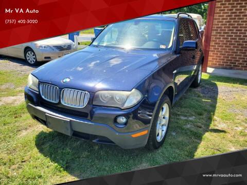 2007 BMW X3 for sale at Mr VA Auto in Chesapeake VA