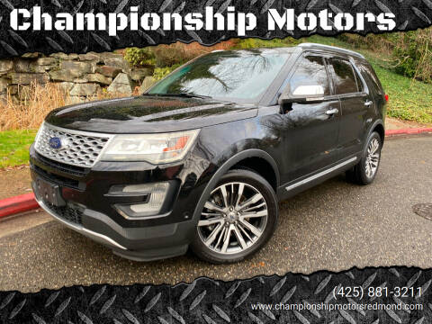 2016 Ford Explorer for sale at Championship Motors in Redmond WA