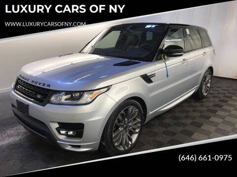 2017 Land Rover Range Rover Sport for sale at LUXURY CARS OF NY in Queens NY