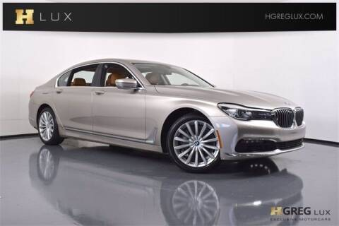2016 BMW 7 Series for sale at HGREG LUX EXCLUSIVE MOTORCARS in Pompano Beach FL