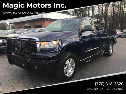2012 Toyota Tundra for sale at Magic Motors Inc. in Snellville GA