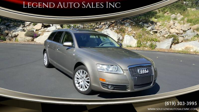 2006 Audi A6 for sale at Legend Auto Sales Inc in Lemon Grove CA
