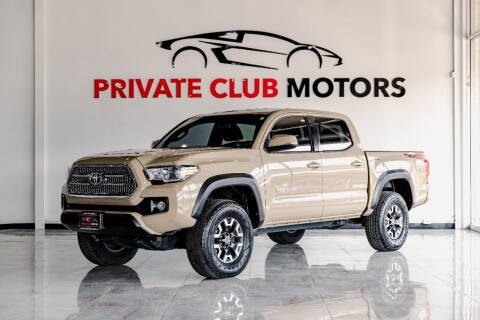 2017 Toyota Tacoma for sale at Private Club Motors in Houston TX