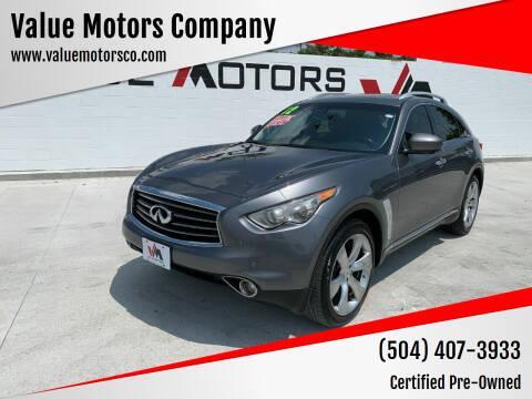 2012 Infiniti FX35 for sale at Value Motors Company in Marrero LA