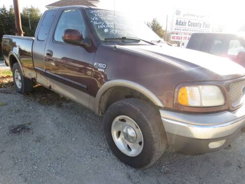 2001 Ford F-150 for sale at GREENFIELD AUTO SALES in Greenfield IA
