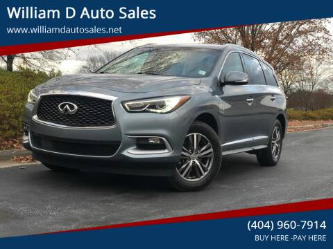 2016 Infiniti QX60 for sale at William D Auto Sales in Norcross GA