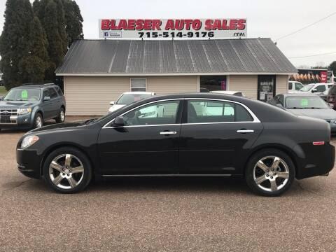 2012 Chevrolet Malibu for sale at BLAESER AUTO LLC in Chippewa Falls WI