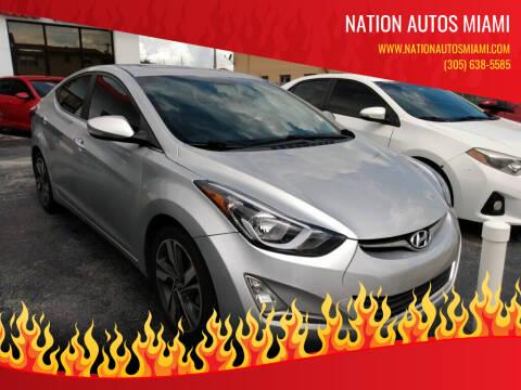 2014 Hyundai Elantra for sale at Nation Autos Miami in Hialeah FL