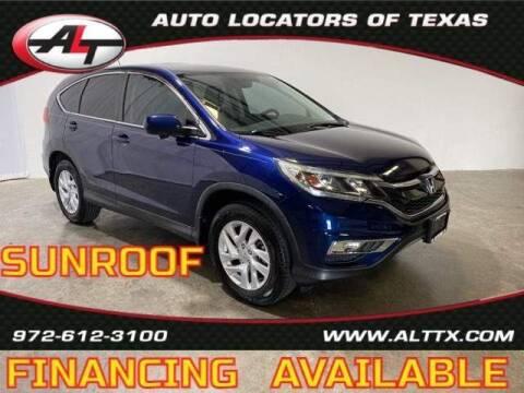 2016 Honda CR-V for sale at AUTO LOCATORS OF TEXAS in Plano TX