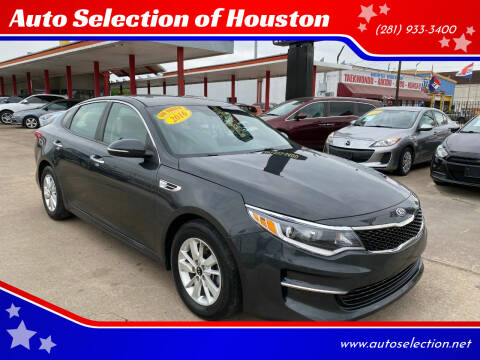 2016 Kia Optima for sale at Auto Selection of Houston in Houston TX