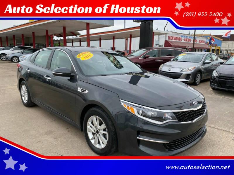 2016 Kia Optima for sale at Auto Selection of Houston in Houston TX