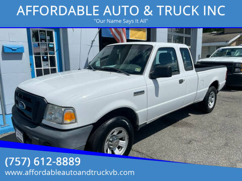 2010 Ford Ranger for sale at AFFORDABLE AUTO & TRUCK INC in Virginia Beach VA