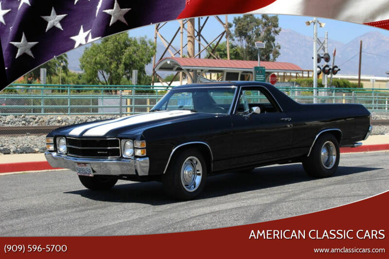 1971 Chevrolet El Camino for sale at American Classic Cars in La Verne CA
