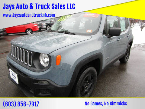 2017 Jeep Renegade for sale at Jays Auto & Truck Sales LLC in Loudon NH