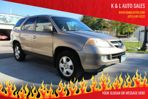 2004 Acura MDX for sale at K & L Auto Sales in Saint Paul MN