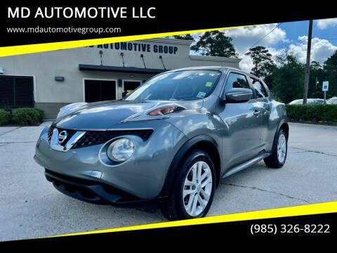 2015 Nissan JUKE for sale at MD AUTOMOTIVE LLC in Slidell LA