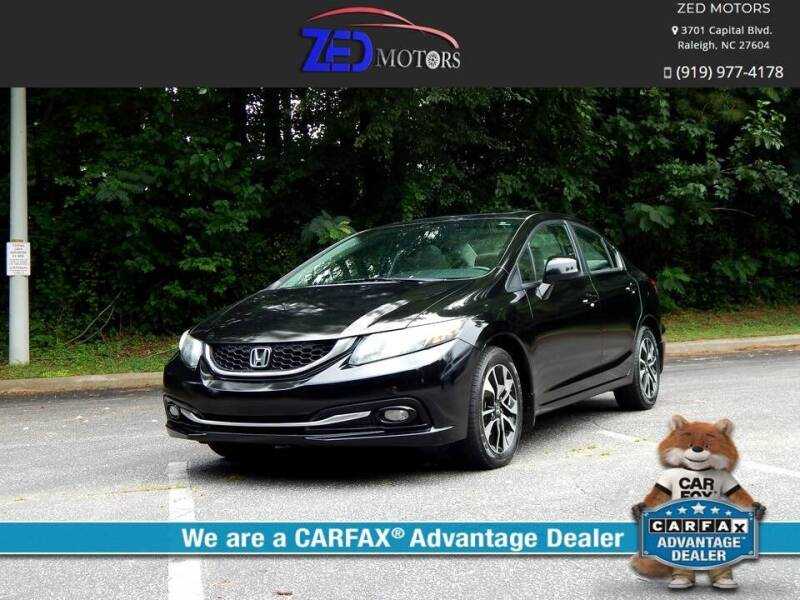 2013 Honda Civic for sale at Zed Motors in Raleigh NC