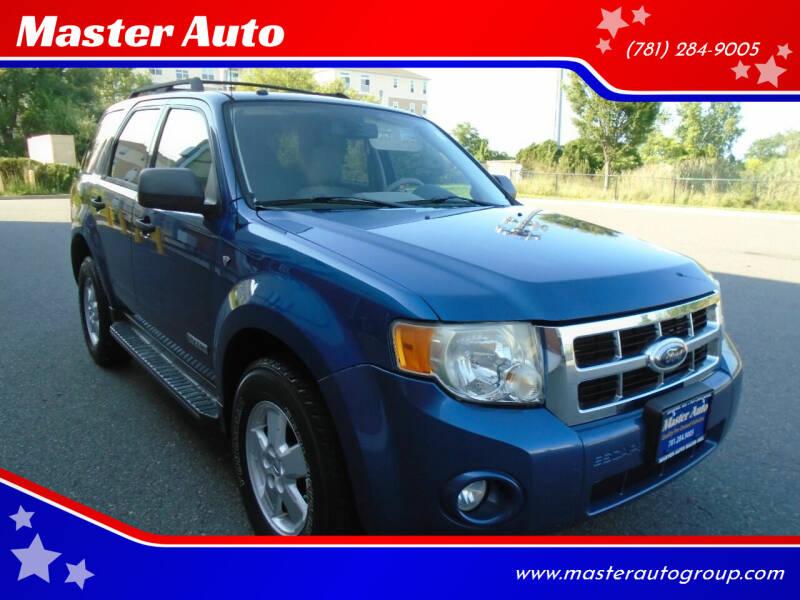 2008 Ford Escape for sale at Master Auto in Revere MA