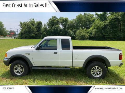 2001 Ford Ranger for sale at East Coast Auto Sales llc in Virginia Beach VA