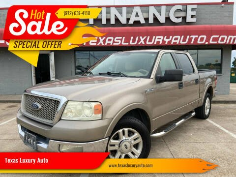2004 Ford F-150 for sale at Texas Luxury Auto in Cedar Hill TX