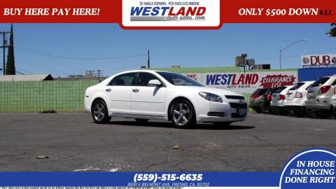 2012 Chevrolet Malibu for sale at Westland Auto Sales on 7th in Fresno CA