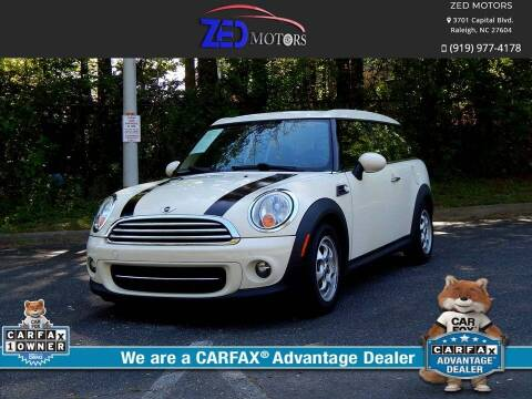 2012 MINI Cooper Clubman for sale at Zed Motors in Raleigh NC