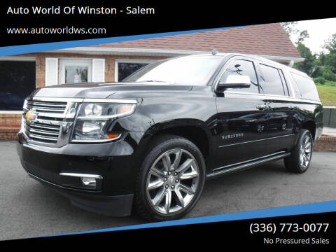 2015 Chevrolet Suburban for sale at Auto World Of Winston - Salem in Winston Salem NC