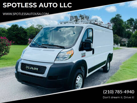 2020 RAM ProMaster Cargo for sale at SPOTLESS AUTO LLC in San Antonio TX