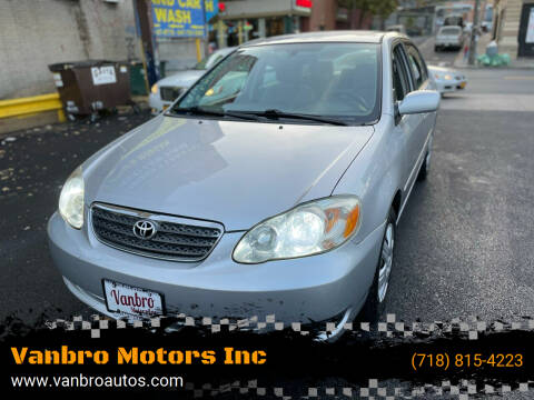 2008 Toyota Corolla for sale at Vanbro Motors Inc in Staten Island NY