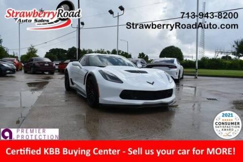 2015 Chevrolet Corvette for sale at Strawberry Road Auto Sales in Pasadena TX