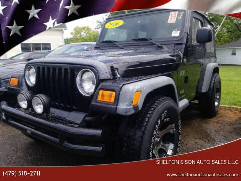 2006 Jeep Wrangler for sale at Shelton & Son Auto Sales L.L.C in Dover AR