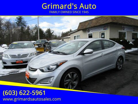 2014 Hyundai Elantra for sale at Grimard's Auto in Hooksett, NH