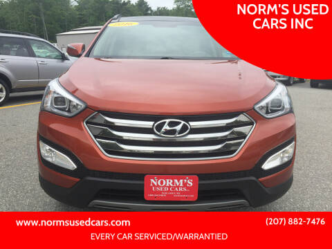 2016 Hyundai Santa Fe Sport for sale at NORM'S USED CARS INC in Wiscasset ME