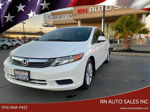 2012 Honda Civic for sale at RN Auto Sales Inc in Sacramento CA