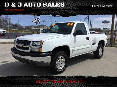 2003 Chevrolet Silverado 1500 for sale at D & J AUTO SALES in Joplin MO