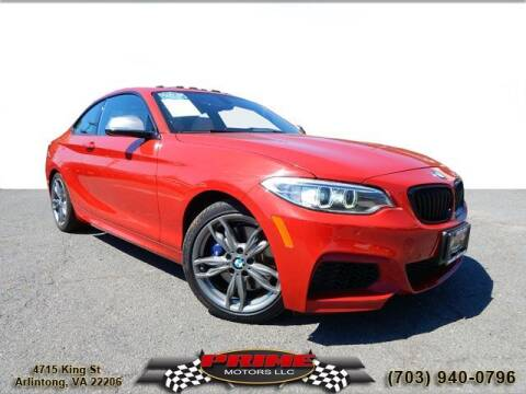 2017 BMW 2 Series for sale at PRIME MOTORS LLC in Arlington VA