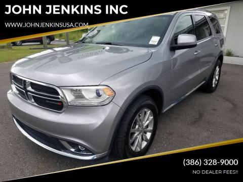 2016 Dodge Durango for sale at JOHN JENKINS INC in Palatka FL