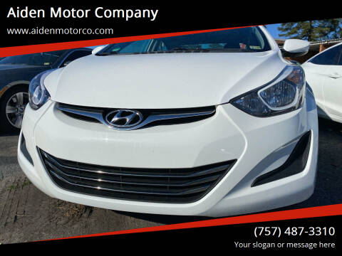 2014 Hyundai Elantra for sale at Aiden Motor Company in Portsmouth VA
