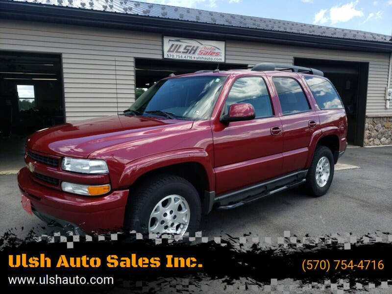2005 Chevrolet Tahoe for sale at Ulsh Auto Sales Inc. in Summit Station PA