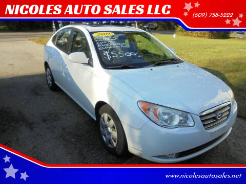 2009 Hyundai Elantra for sale at NICOLES AUTO SALES LLC in Cream Ridge NJ