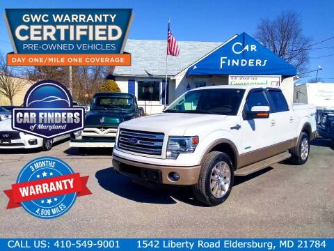 2013 Ford F-150 for sale at CAR FINDERS OF MARYLAND LLC in Eldersburg MD