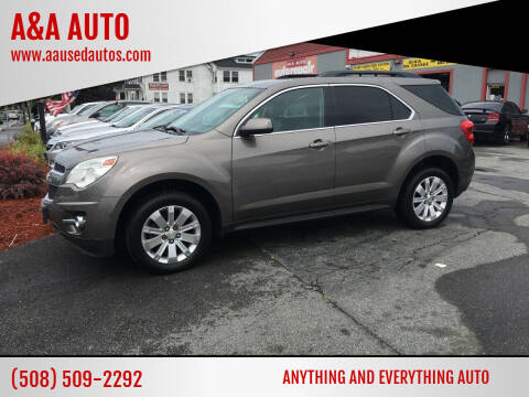 2011 Chevrolet Equinox for sale at A&A AUTO in Fairhaven MA