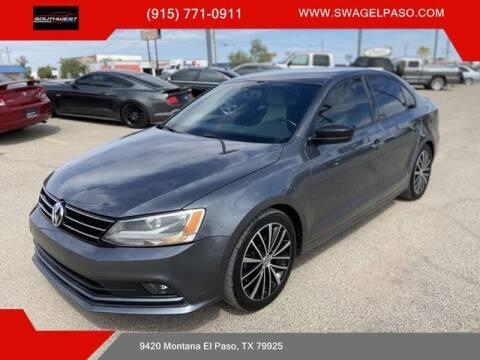 2015 Volkswagen Jetta for sale at SOUTHWEST AUTO GROUP-EL PASO in El Paso TX